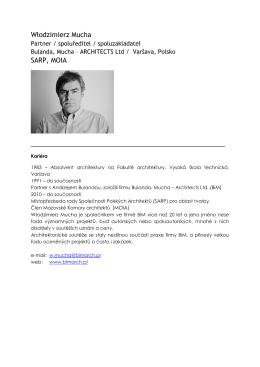 Curriculum vitae - Grand Prix architektů