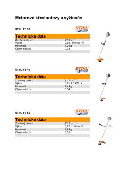 Motorové křovinořezy a vyžínače STIHL - 2015