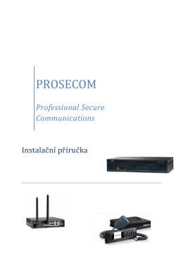 Prosecom - Instalační příručka, Česky, 1.56 MB