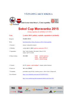 Sokol Cup Mor Sokol Cup Moravanka 2015 avanka 2015