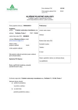 formulář hlášení PU