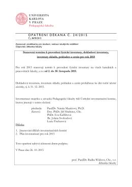O P A T Ř E N Í D Ě K A N A Č . 24/2015