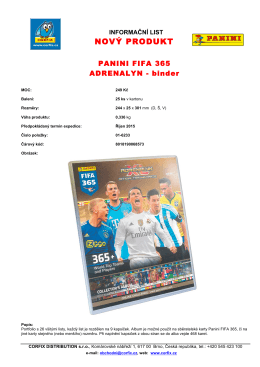 PANINI FIFA 365 - ADRENALYN - binder