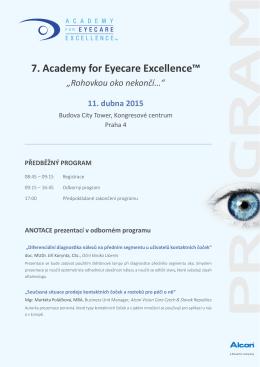 """7. Academy for Eyecare Excellence™ """"Rohovkou oko nekončí…"""""""