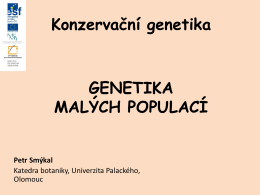 Genetický drift a velikost efektivní populace (Ne)