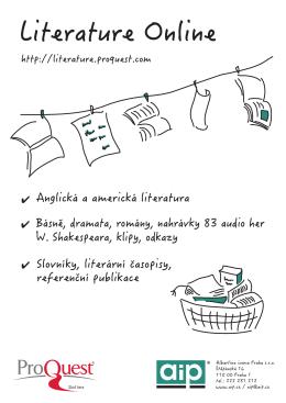 Literature Online - Albertina icome Praha