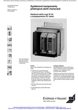 Systémové komponenty Monorack