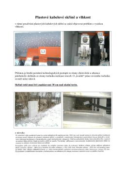 Plastové kabelové skříně a vlhkost - ELEKTRO