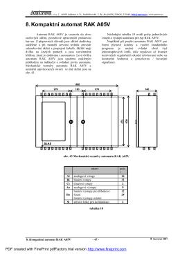 8. Kompaktníautomat RAK A05V