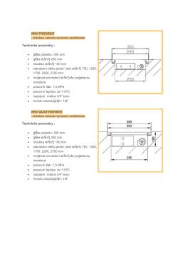 RKV - typy a dodávané základní rozměry