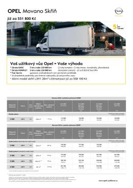 OPEL Movano Skříň - Užitkové vozy Opel