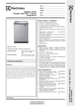 Digitální skříně Chladicí skříň 160 l, 1 dveře, podpultová