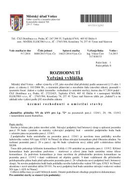Městský úřad ve Voticích, odbor výstavby a