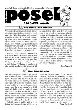 Posel 2015/5 - ČCE Olomouc