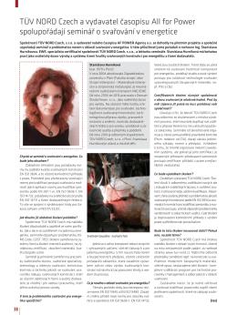 TÜV NORD Czech a vydavatel časopisu All for Power spolupořádají