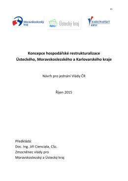 Koncepce hospodářské restrukturalizace ULK, MSK a KVK - HSR-ÚK