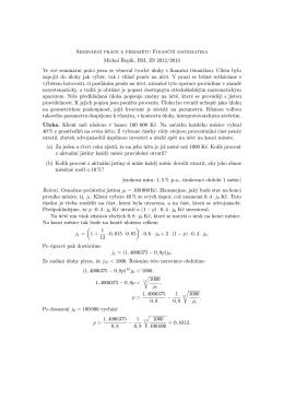 Seminární práce z předmětu Finanční matematika Michal Řepík, BM