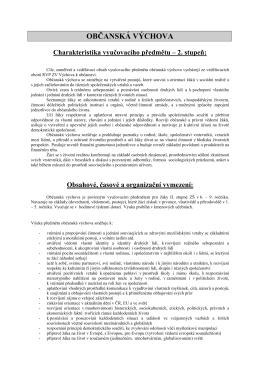 občanská výchova - Základní škola Letohrad