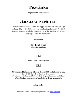 Pozvánka - Gymnázium Kladno