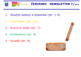 červenec newsletter 7/2015 - MU ONLINE APPLICATION for