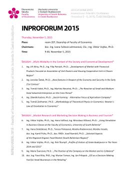 INPROFORUM 2015