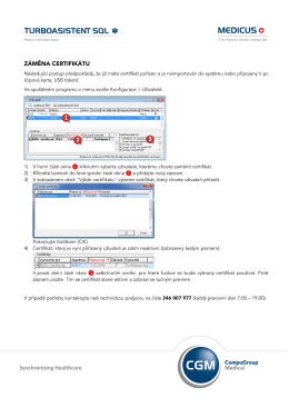 Záměna certifikátu v programu