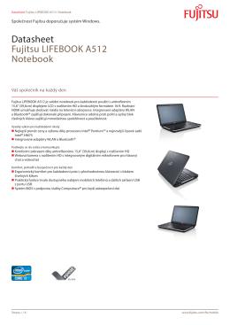 Datasheet Fujitsu LIFEBOOK A512 Notebook