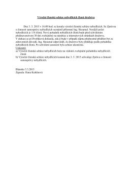 Informace z výroční členské schůze nebydlících členů družstva