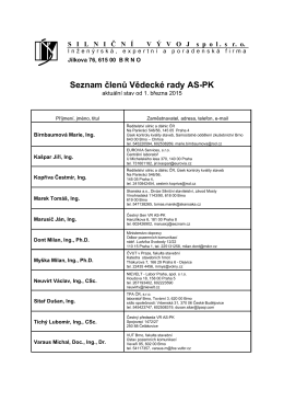 Seznam členů Vědecké rady AS-PK