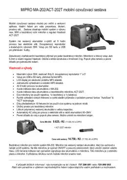 MIPRO MA-202/ACT-202T mobilní ozvučovací sestava