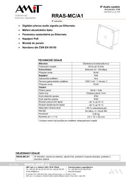 RRAS-MC/A1 - leták - AMiT