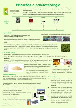 Nanověda a nanotechnologie (poster)
