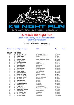 2. ročník K9 Night Run