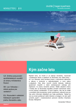NEWSLETTER MAY 2015_CZ
