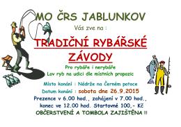 MO ČRS JABLUNKOV TRADIČNÍ RYBÁŘSKÉ ZÁVODY