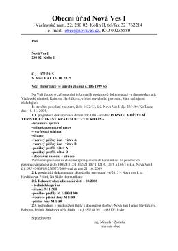 Informace ve smyslu zákona č. 106/1999 Sb.
