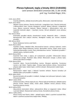 Přenos hybnosti, tepla a hmoty 2015 (2181026)
