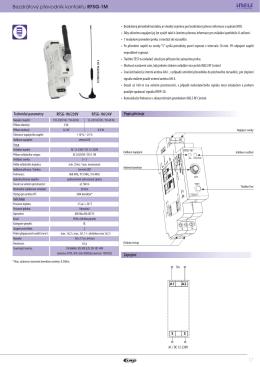 Bezdrátový převodník kontaktu RFSG-1M
