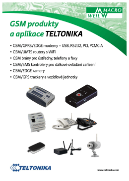 Přehled GSM produktů Macro Weil - HW