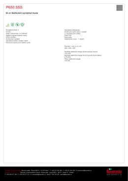 Produktový list - Baumatic P650.5SS nerez