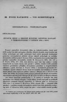 tchécoslovaquie studium dëjin a hmotné kult