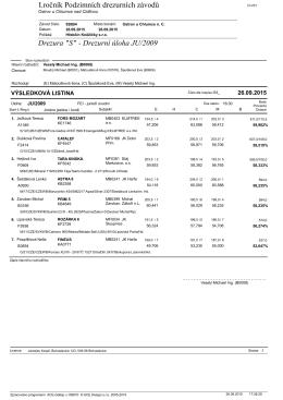 Výsledky - JU/2009