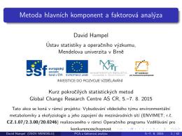 Metoda hlavních komponent a faktorová analýza