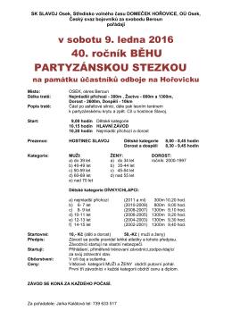 TJ SLAVOJ Osek, ZV OSK BUZULUK Komárov a ODDM Hořovice