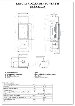 Technické listy - Tower 5H