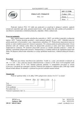 Podavače šnekové PSA 315