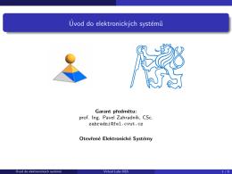 Úvod do elektronických systému - OES | Otevřené Elektronické