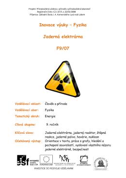 F9_07_Jaderná elektrárna