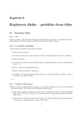 Keplerova úloha – problém dvou těles