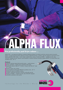 Generace hořáků ALPHA FLUX